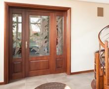 drewniane drzwi pokojowe z dostawka